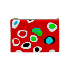 Red abstract pattern Cosmetic Bag (Medium)