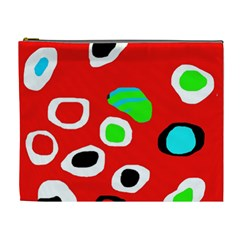 Red abstract pattern Cosmetic Bag (XL)