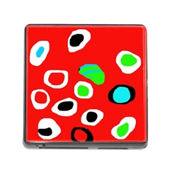 Red abstract pattern Memory Card Reader (Square)