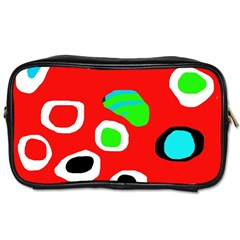Red abstract pattern Toiletries Bags 2-Side