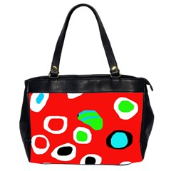 Red abstract pattern Office Handbags (2 Sides)
