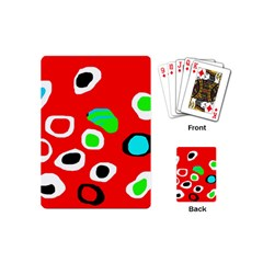 Red abstract pattern Playing Cards (Mini)