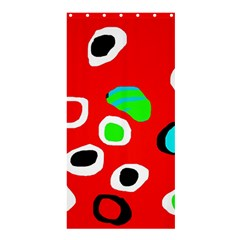 Red abstract pattern Shower Curtain 36  x 72  (Stall)