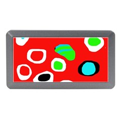 Red abstract pattern Memory Card Reader (Mini)