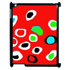 Red abstract pattern Apple iPad 2 Case (Black)