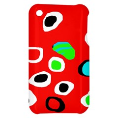 Red abstract pattern Apple iPhone 3G/3GS Hardshell Case