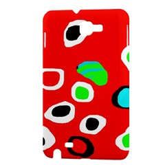 Red abstract pattern Samsung Galaxy Note 1 Hardshell Case