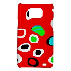 Red abstract pattern Samsung Galaxy S2 i9100 Hardshell Case