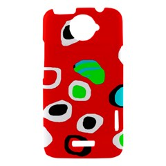 Red abstract pattern HTC One X Hardshell Case