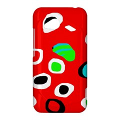 Red abstract pattern HTC Droid Incredible 4G LTE Hardshell Case