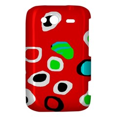 Red abstract pattern HTC Wildfire S A510e Hardshell Case