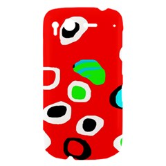 Red abstract pattern HTC Desire S Hardshell Case