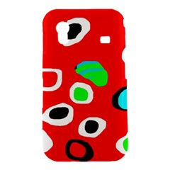 Red abstract pattern Samsung Galaxy Ace S5830 Hardshell Case