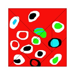 Red abstract pattern Acrylic Tangram Puzzle (6  x 6 )