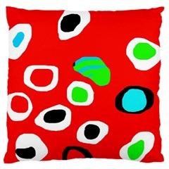Red abstract pattern Large Cushion Case (Two Sides)