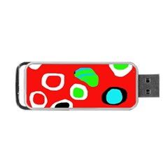 Red abstract pattern Portable USB Flash (One Side)
