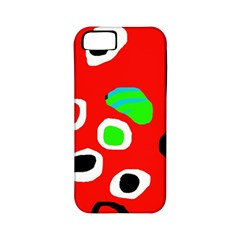 Red abstract pattern Apple iPhone 5 Classic Hardshell Case (PC+Silicone)