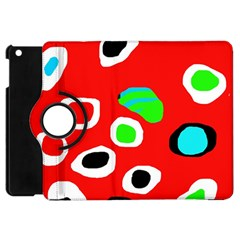 Red abstract pattern Apple iPad Mini Flip 360 Case