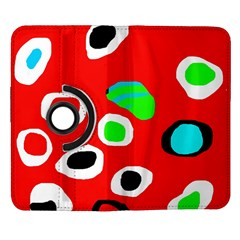 Red abstract pattern Samsung Galaxy Note II Flip 360 Case