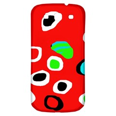 Red abstract pattern Samsung Galaxy S3 S III Classic Hardshell Back Case