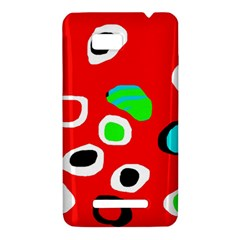 Red abstract pattern HTC One SU T528W Hardshell Case