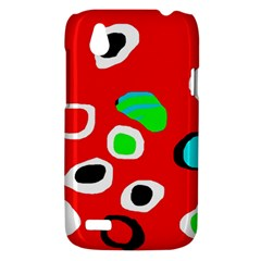 Red abstract pattern HTC Desire V (T328W) Hardshell Case