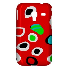 Red abstract pattern Samsung Galaxy Ace Plus S7500 Hardshell Case