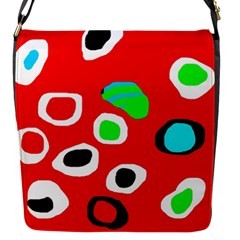 Red abstract pattern Flap Messenger Bag (S)