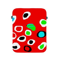 Red abstract pattern Apple iPad 2/3/4 Protective Soft Cases