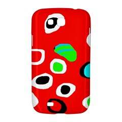Red abstract pattern Samsung Galaxy Grand GT-I9128 Hardshell Case