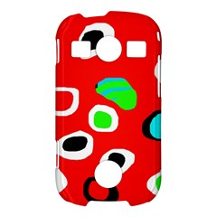Red abstract pattern Samsung Galaxy S7710 Xcover 2 Hardshell Case