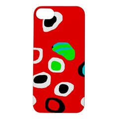 Red abstract pattern Apple iPhone 5S/ SE Hardshell Case