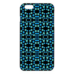 Dots Pattern Turquoise Blue iPhone 6 Plus/6S Plus TPU Case