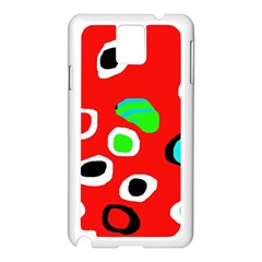 Red abstract pattern Samsung Galaxy Note 3 N9005 Case (White)