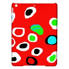 Red abstract pattern iPad Air Hardshell Cases