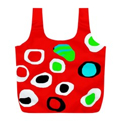 Red abstract pattern Full Print Recycle Bags (L)