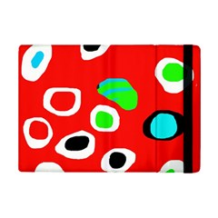 Red abstract pattern iPad Mini 2 Flip Cases