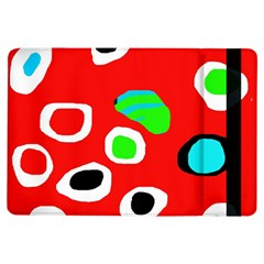 Red abstract pattern iPad Air Flip