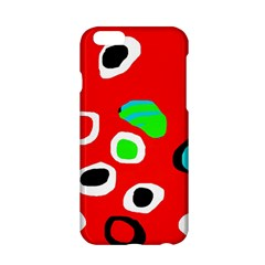 Red abstract pattern Apple iPhone 6/6S Hardshell Case