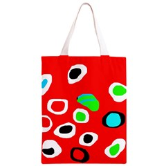 Red abstract pattern Classic Light Tote Bag