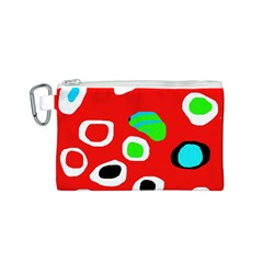 Red abstract pattern Canvas Cosmetic Bag (S)