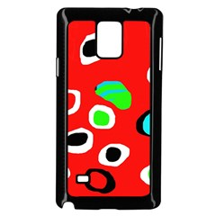 Red abstract pattern Samsung Galaxy Note 4 Case (Black)