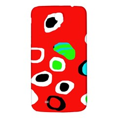 Red abstract pattern Samsung Galaxy Mega I9200 Hardshell Back Case
