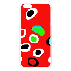 Red abstract pattern Apple Seamless iPhone 6 Plus/6S Plus Case (Transparent)