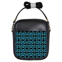 Dots Pattern Turquoise Blue Girls Sling Bags