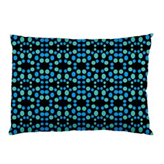 Dots Pattern Turquoise Blue Pillow Case