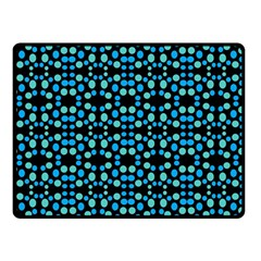 Dots Pattern Turquoise Blue Double Sided Fleece Blanket (Small)