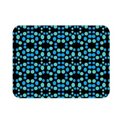 Dots Pattern Turquoise Blue Double Sided Flano Blanket (Mini)