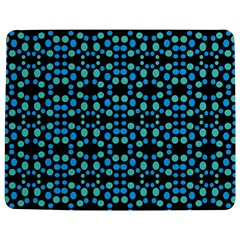 Dots Pattern Turquoise Blue Jigsaw Puzzle Photo Stand (Rectangular)