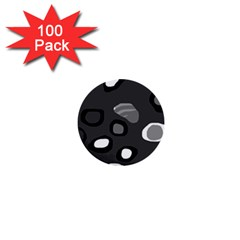 Gray abstract pattern 1  Mini Buttons (100 pack)